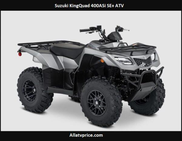 Suzuki KingQuad 400ASi SE+ Price, Specs, Top Speed, Reviews