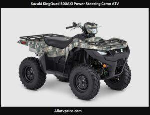 Suzuki KingQuad 500AXi Power Steering Camo Price, Specs, Top Speed, Review