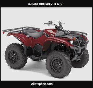 Yamaha KODIAK 700 Price, Top Speed, HP, Review Specs
